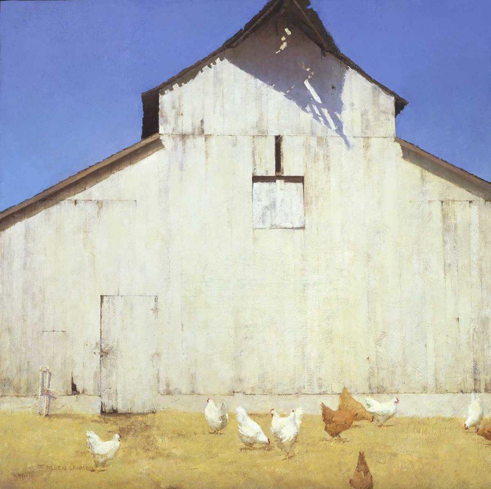 """""""Giant White"""" oil on linen, 28 x 28 in., 2008"""