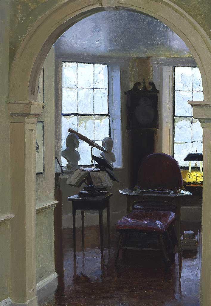 """""""Mr. Jefferson's Study"""" oil on linen, 20 x 14 in., 2004"""