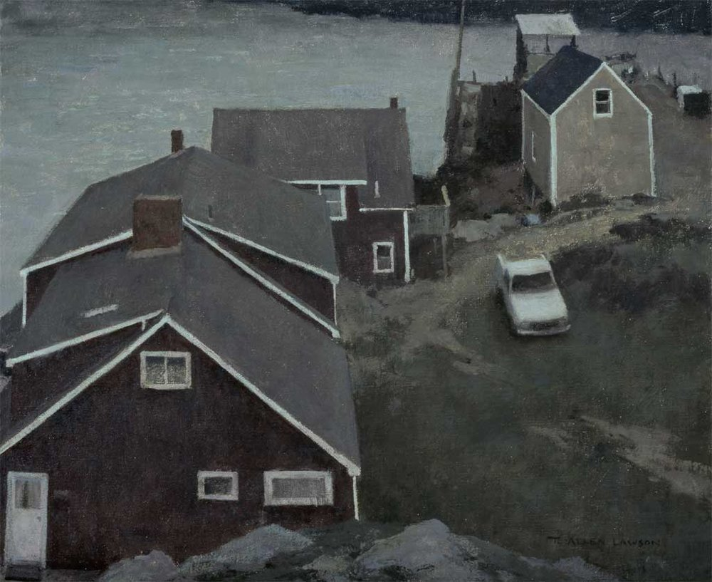 """""""Night on the Island"""" oil on linen, 18 x 20 in., 2007"""