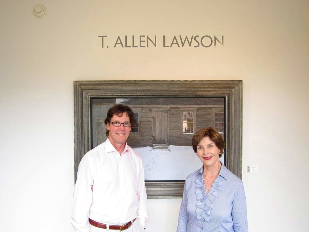 Tim Lawson with Laura Bush