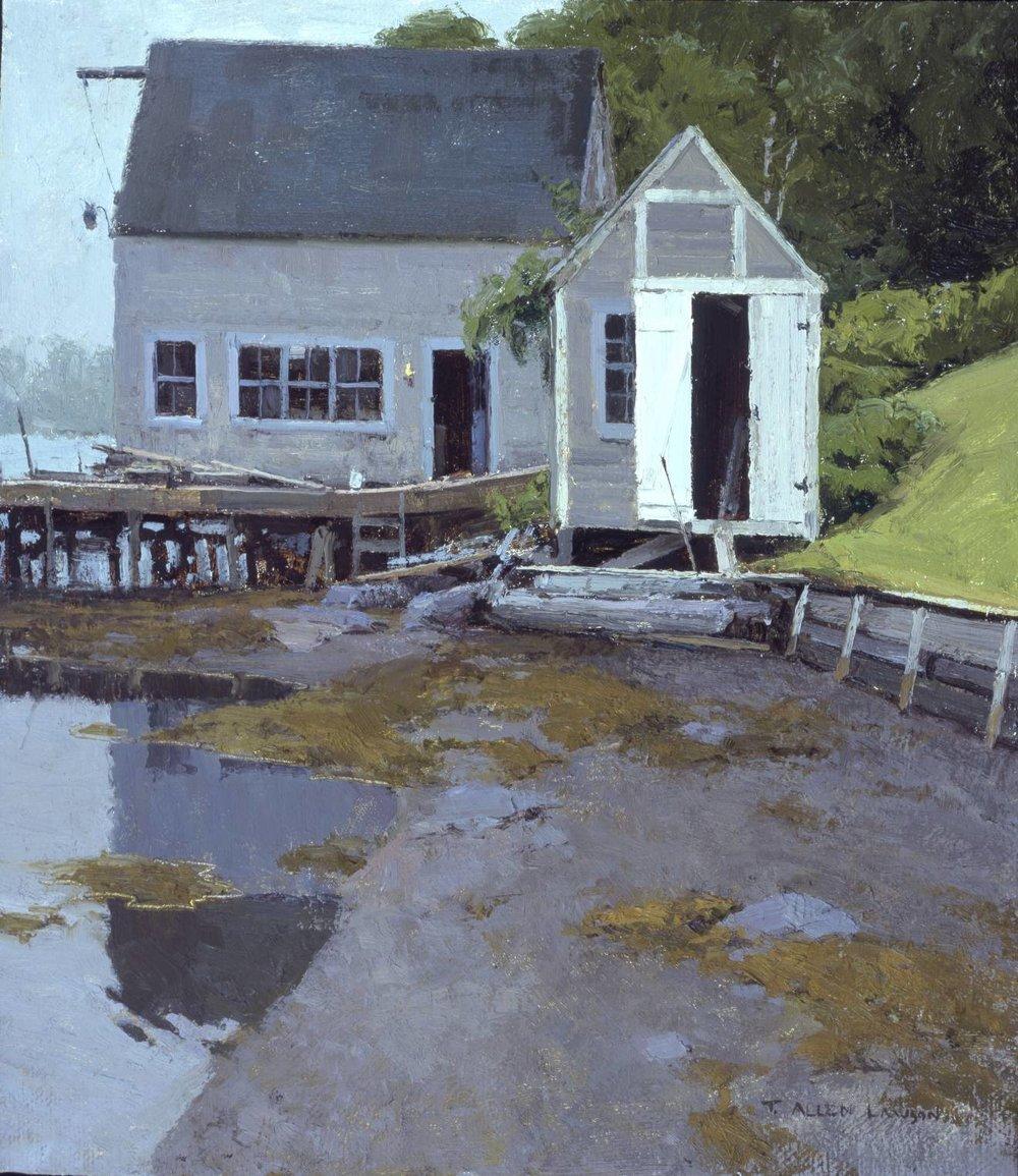 Pleasant Harbor Gut, oil on linen, 18 x 14 in.
