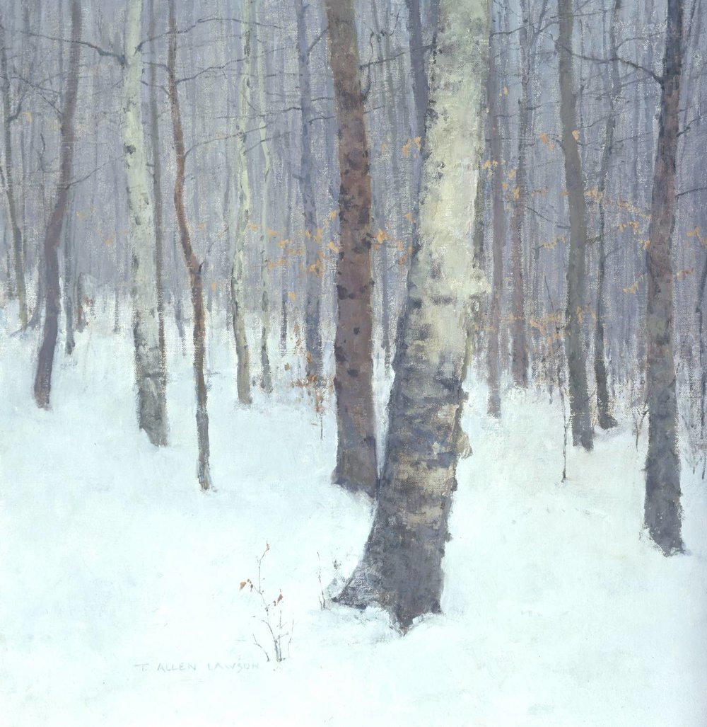In the Woods - Winter, oil on linen, 20 x 19 in.