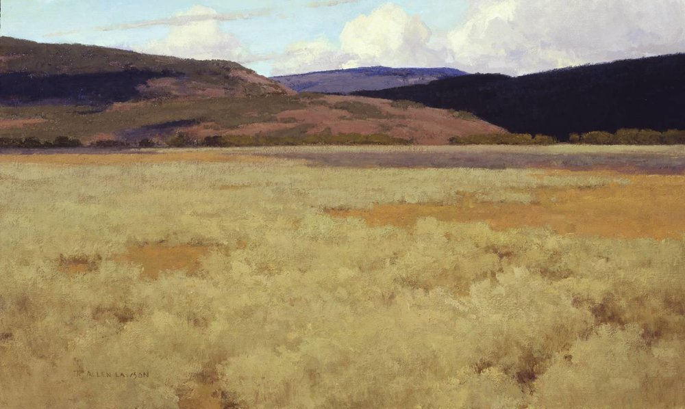 Gros Ventre Grandeur, oil on linen, 18 x 30 in.