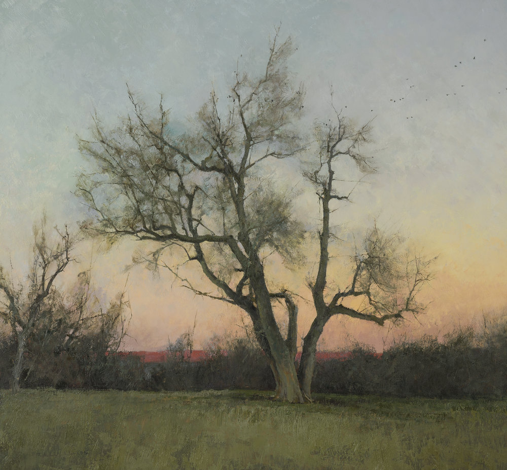 Evening, oil on panel, 28 x 30in.