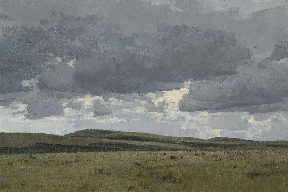 Open Range, oil on linen over panel, 12 x 18in.