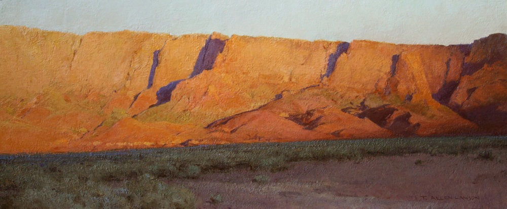 Nothing Gold Can Stay, oil on linen, 13 x 30in. On loan from private collection