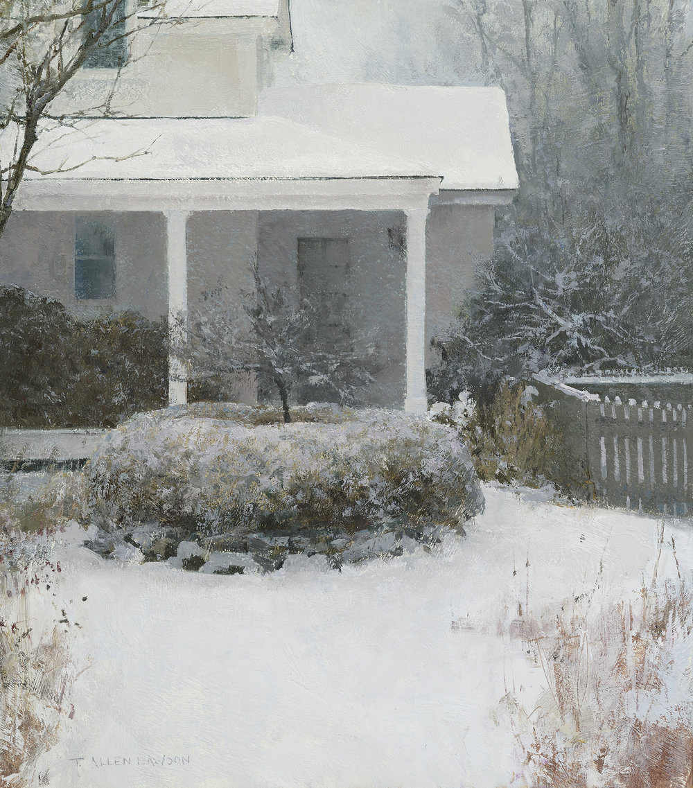 """Winter's Walk"" oil on panel, 15.75 x 14 in., 2017"