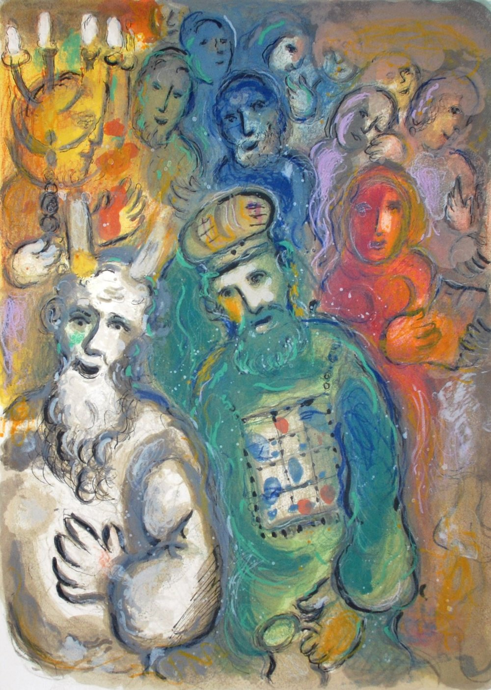 Moses and Aaron and the Elders, by Marc Chagall