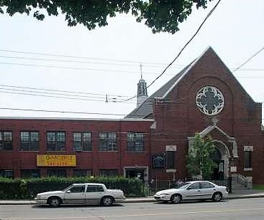 The old Verdun United building still stands at 650 Woodland ave.