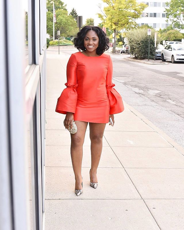 Red makes me bold. Currently at @fashionweekcolumbus for the 2017 launch party in this bold number from @asos. I don't think I'm ever taking this dress off.