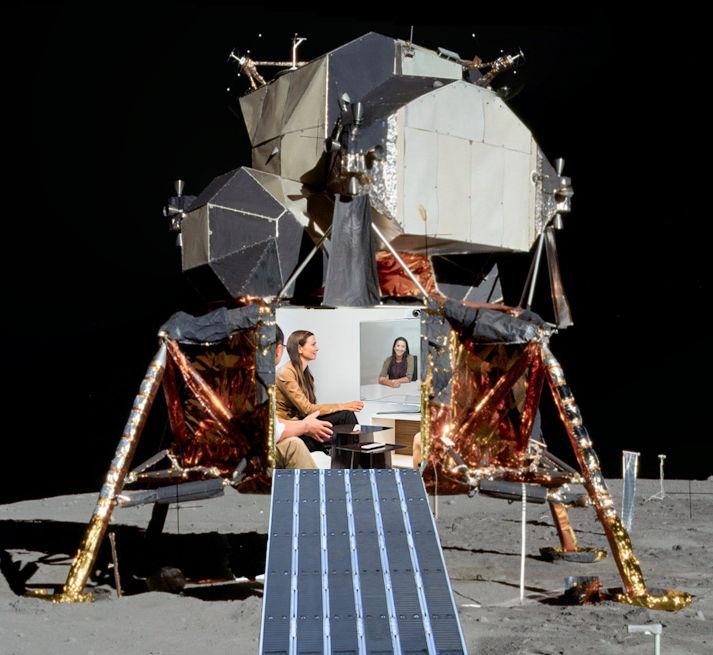 Apollo Lunar Module   The idea here is to build a smaller meeting space similar to the original lunar landing modules of the Apollo era.