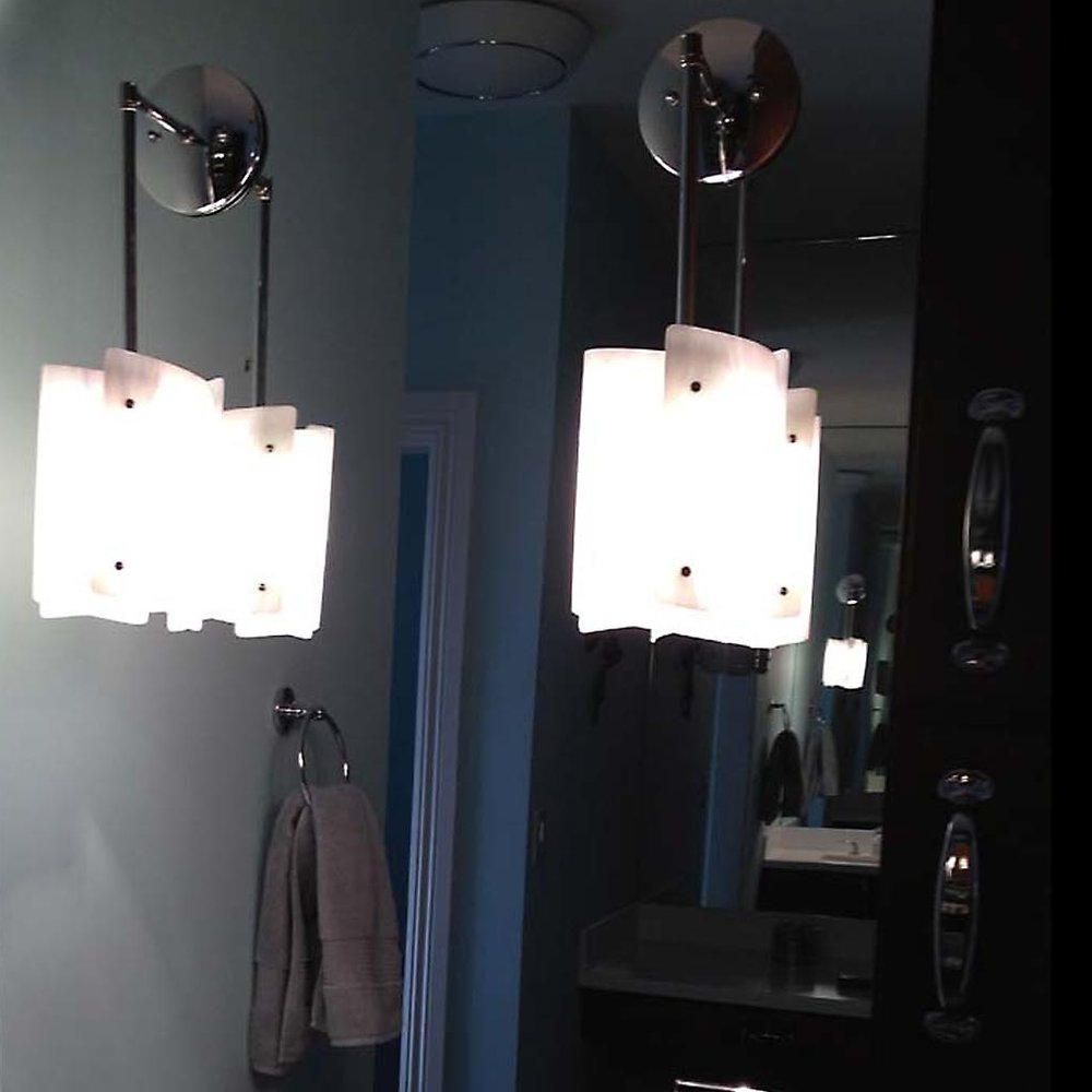 A pair of pendant Sushis in bathroom.jpg