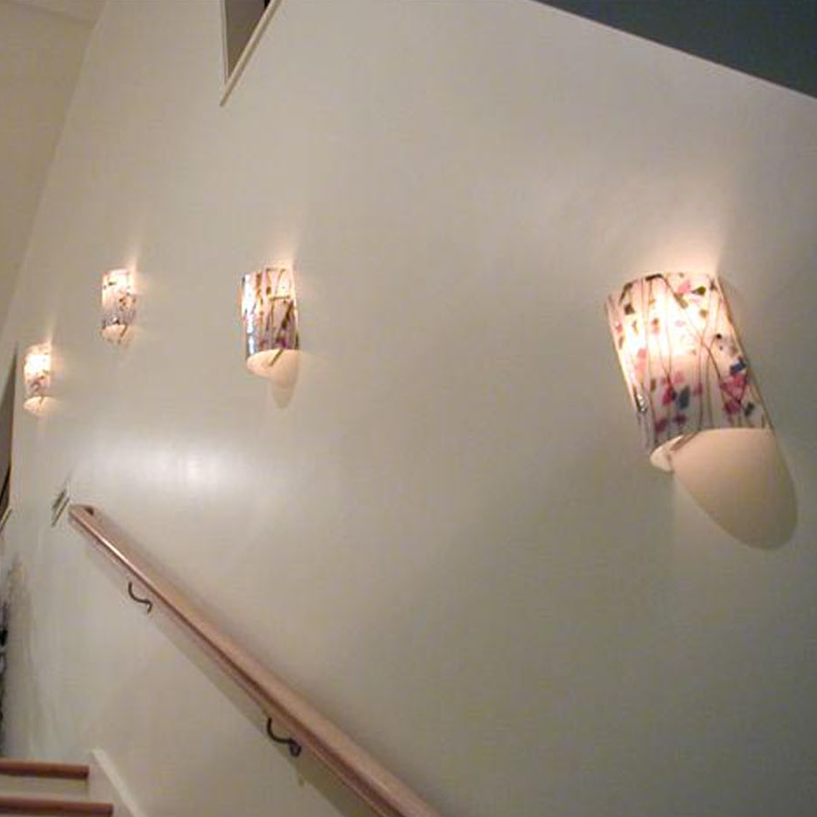 Sushi pendants on stairs.jpg