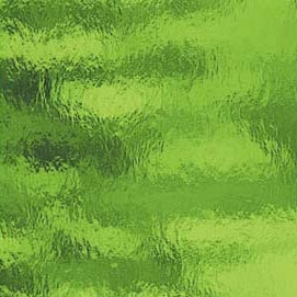 526-2RR   - Moss Green  A super tropical green, lush and cool with a wonderful texture.  As with all clear art glass, we will sand-blast the interior to diffuse the light so hot spots are minimal.