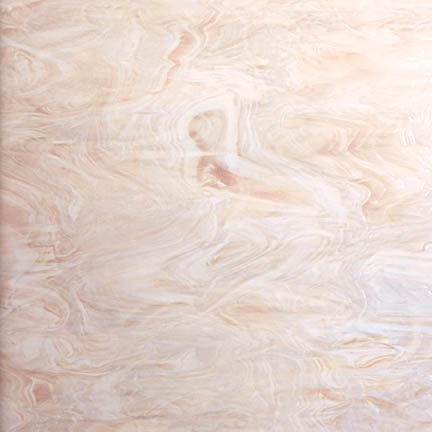 891-61  - Pink Champagne Opal This Spectrum glass is called Pink Champagne opal. A very delicate peach tint combined with a wispy white opal in random patterns, suitable for many uses. It is slightly more beige than the similar 891-81S