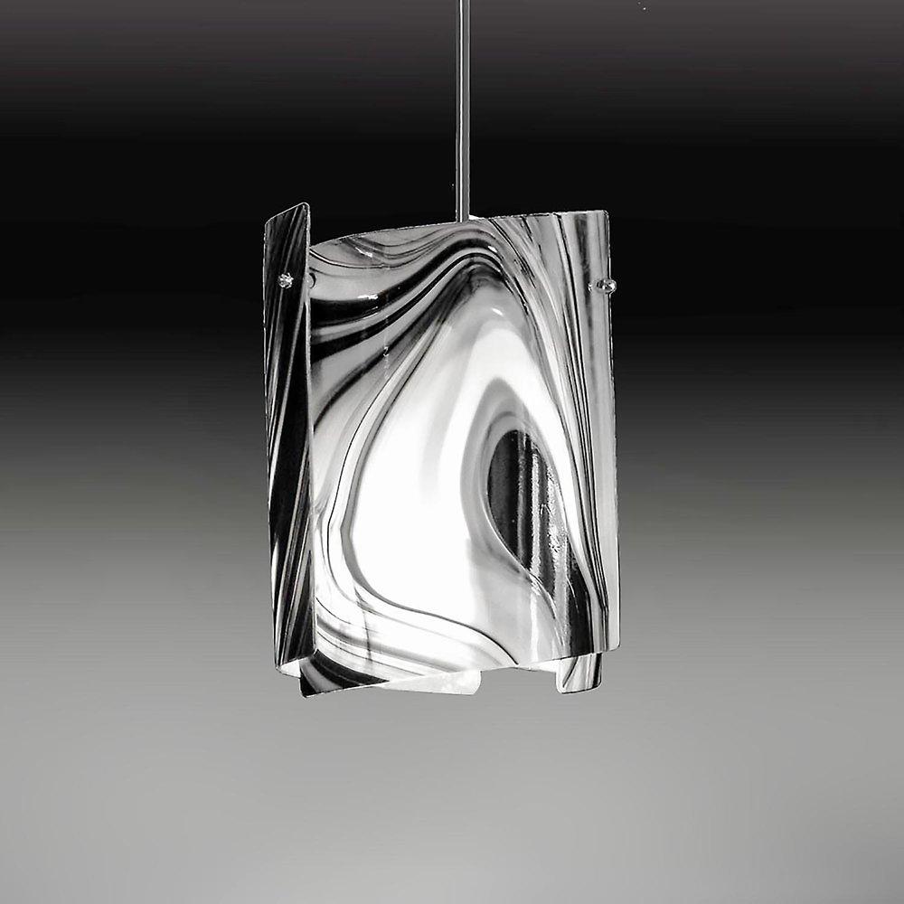 P2  Sushi black/white baroque glass