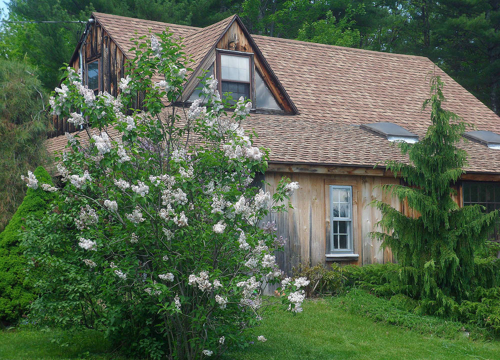 Spring Studio with lilacs in bloom