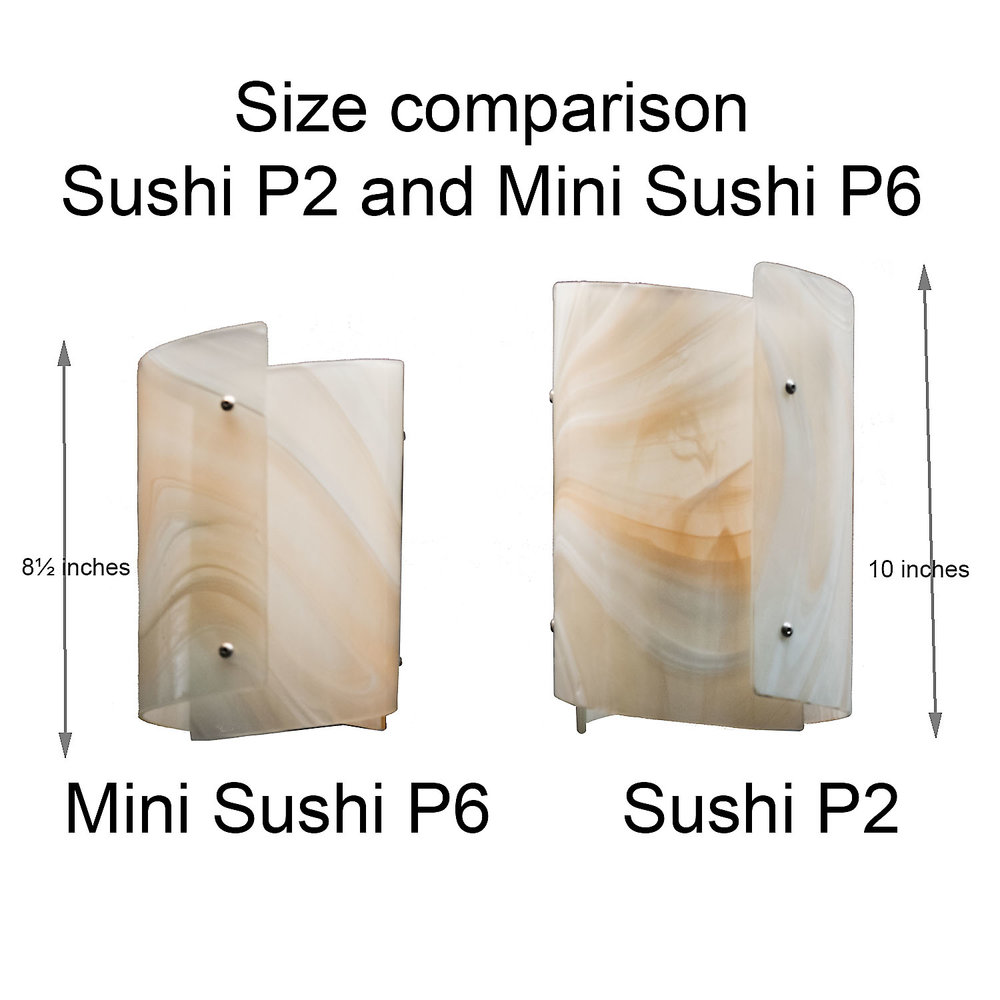 Size Comparison Sushi P2 and Mini Sushi P6