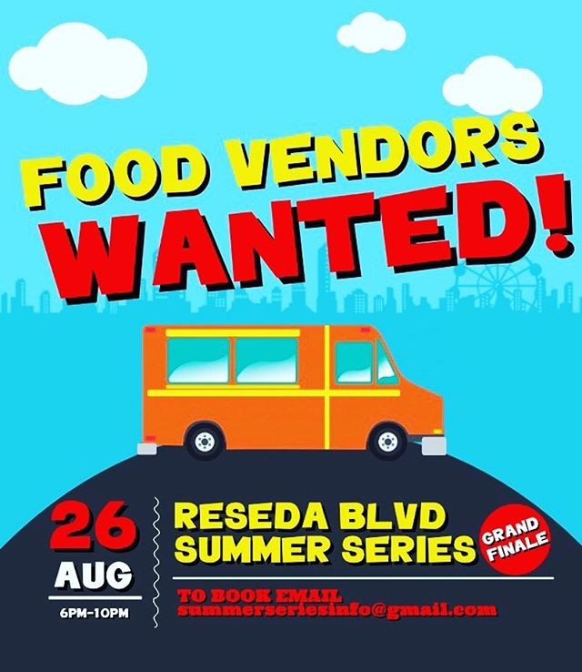 If you or anyone you know would like to sell food at our grand finale this Saturday, please send us an email at summerseriesinfo@gmail.com. It is going to be our biggest event yet!
