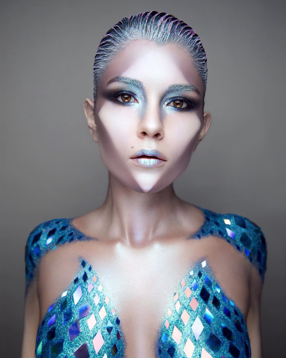 Humanoid - Tired of being an adult? Try an alien-like species instead. This is the most requested look from NYC-based photographer, Sarah.