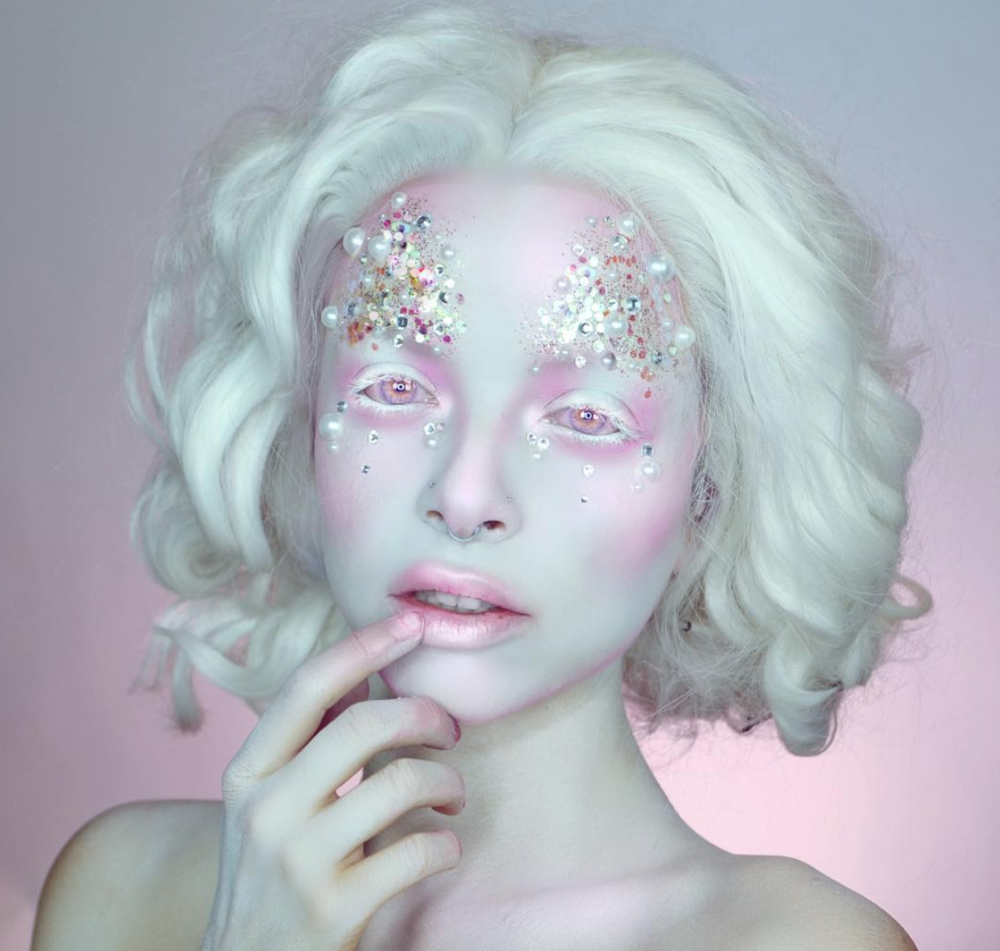 Porcelain Pixie - Somewhere between a fairytale and a porcelain figurine, costume makeup artist, Kimberley, gives us something dainty for Halloween.