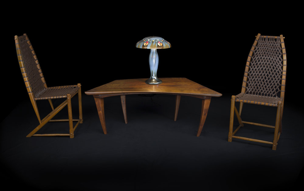 Harness Room Side Chairs  and  Coffee Table , 1932