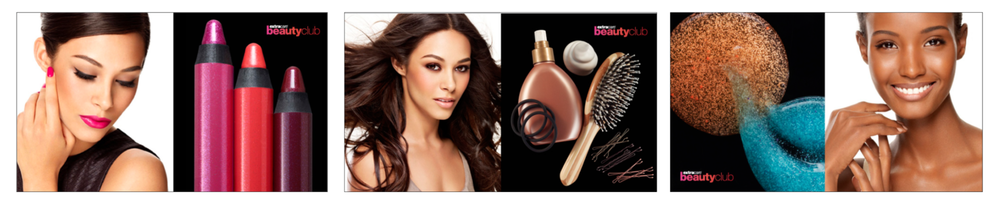 Beauty Club Assets - digital, in-store signage, circular