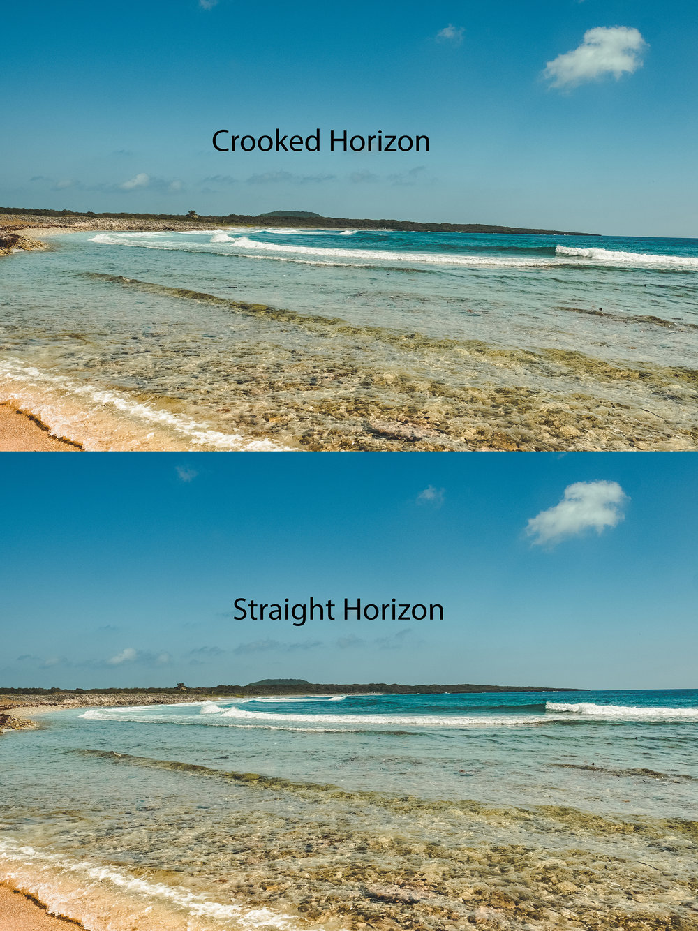 Having a straight horizon makes photos more appealing to the eye.