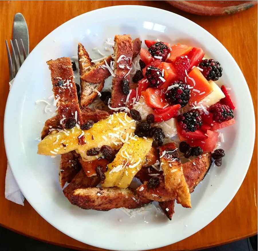 French toast from Il Giardino's in San Marcos.