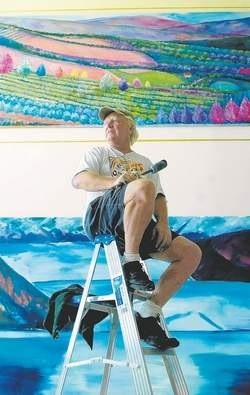 Sarasota Studio, FL - William working on  a 7