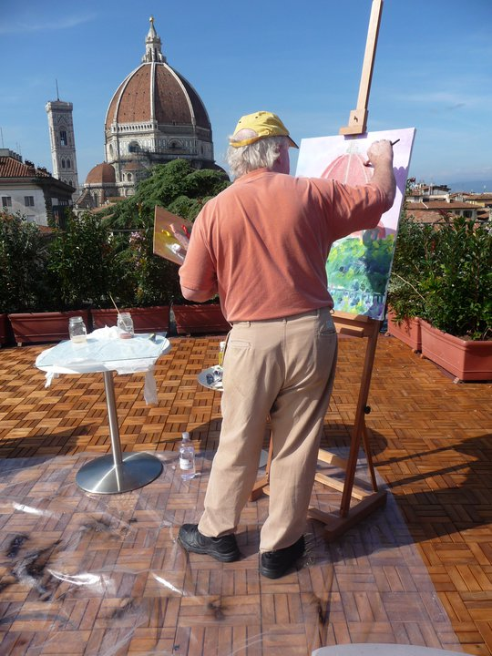 Florence Studio, Italy - William working out on the