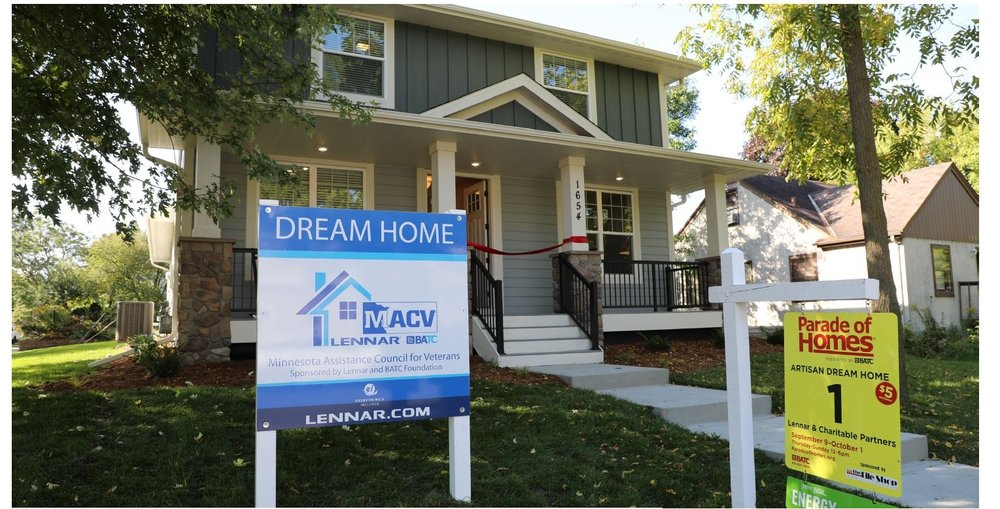 The five-bedroom St. Paul REsidence is the first home the Minnesota assistance council for Veterans owns and operates for veteran families