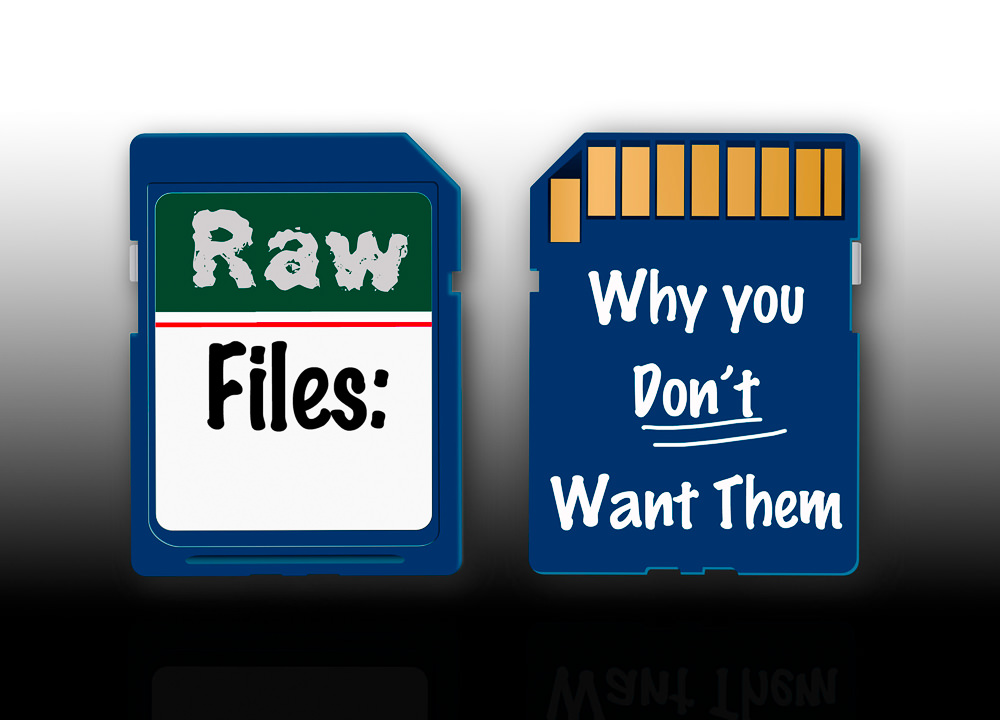 You don't want your photographer to give you the raw files.