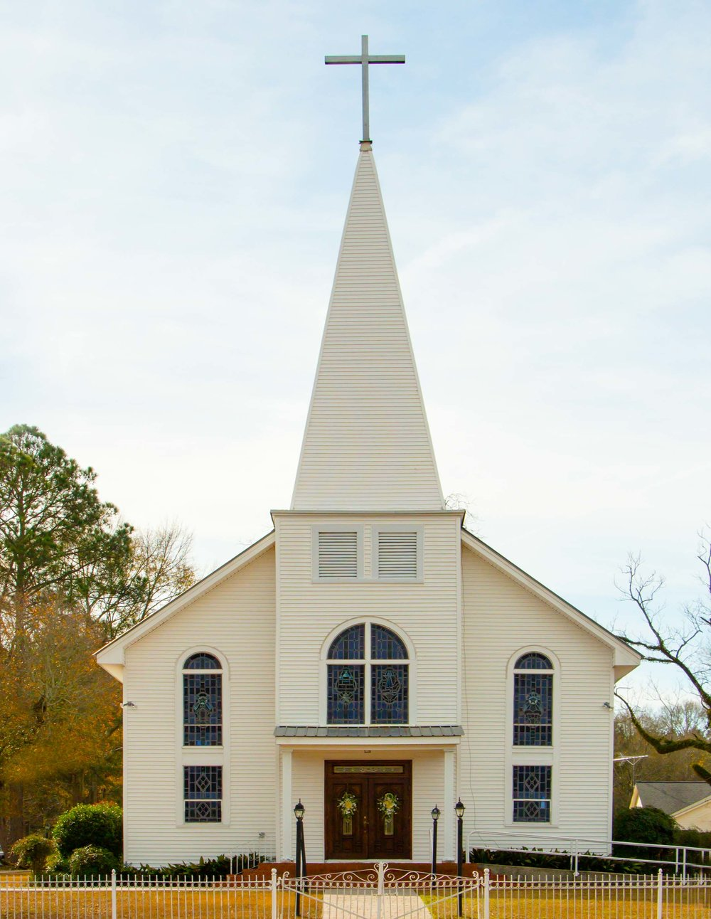 The beautiful St. Peter's Catholic Church, located on Highway 42 in Bassfield, Mississippi.