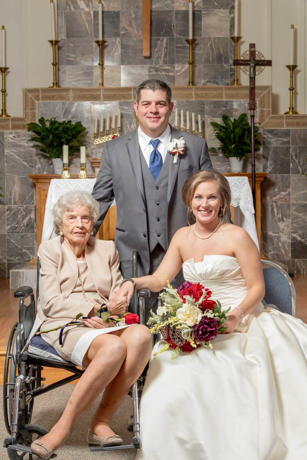 Kyle, Lindsey, and Memaw.