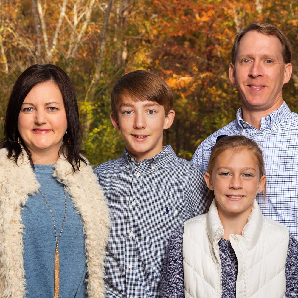 Hattiesburg family portrait in forest