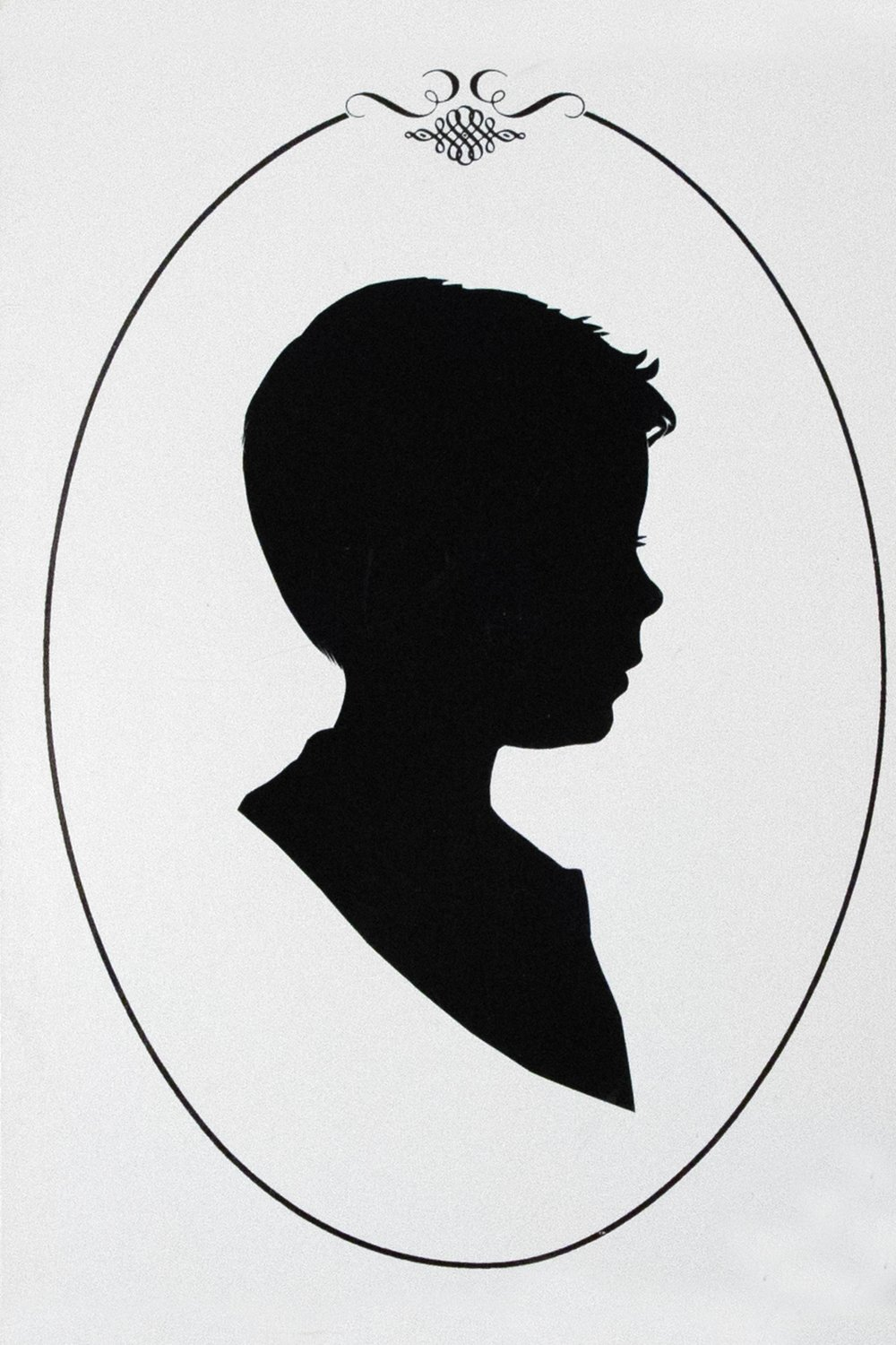 My son's silhouette from around 13 years ago