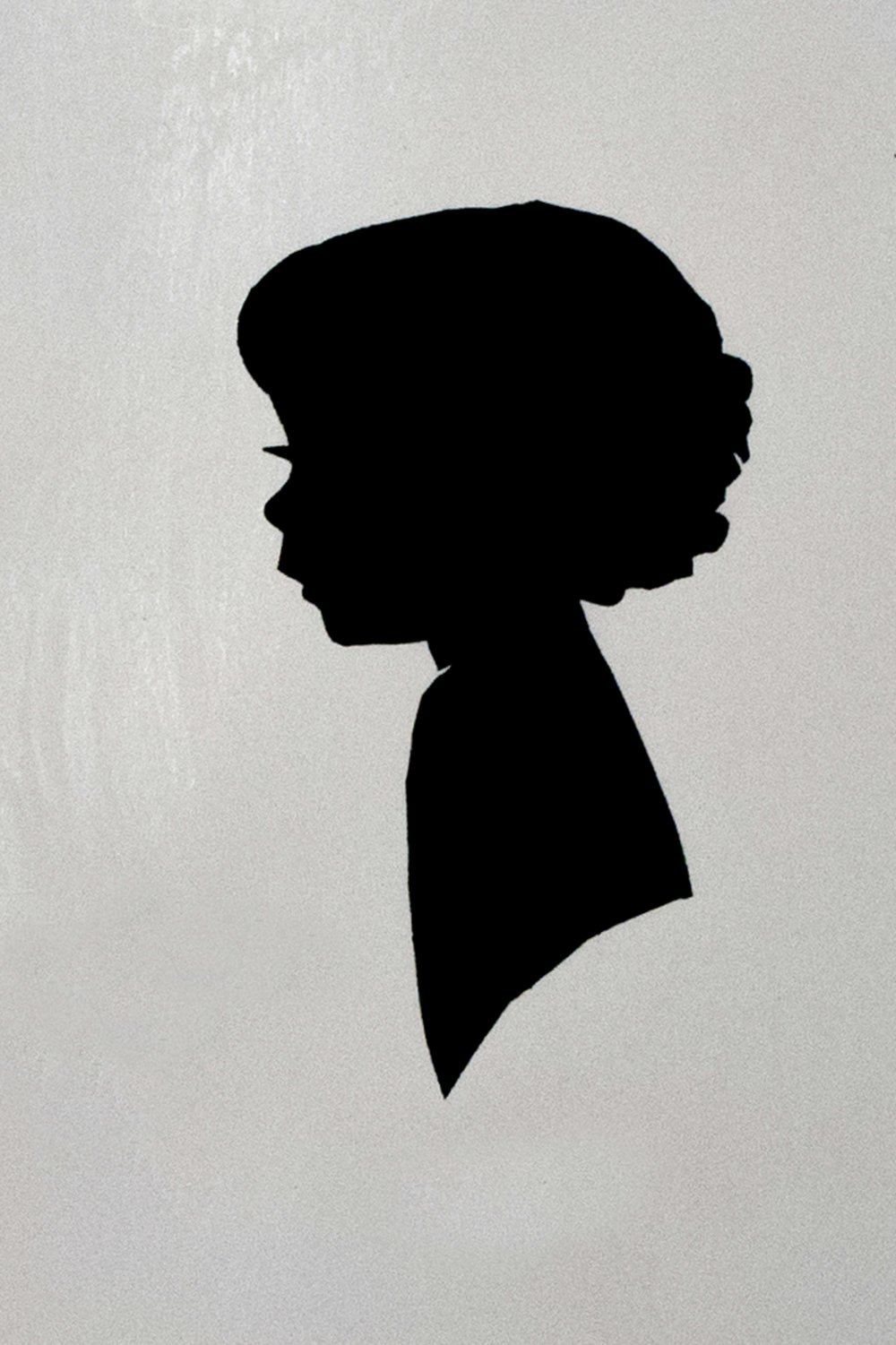 My daughter's silhouette from around seven years ago