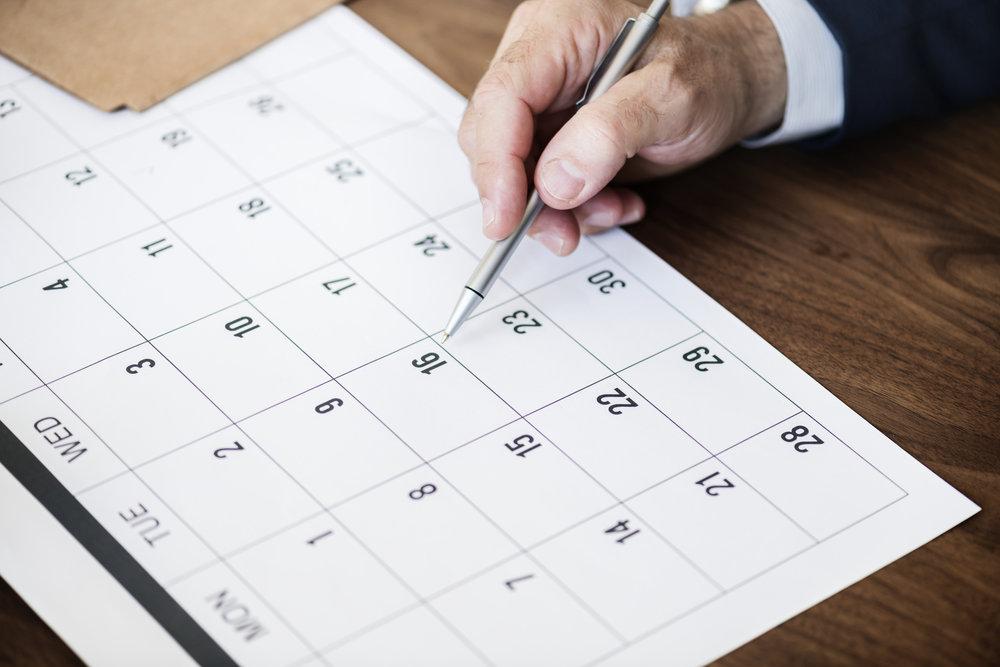 Dates et délais -