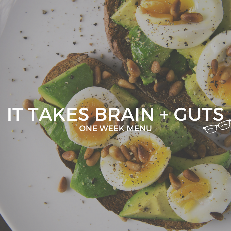 It Takes Brain + Guts Meal Plan