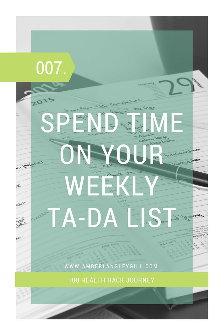 007 Health Hack: Schedule Your week