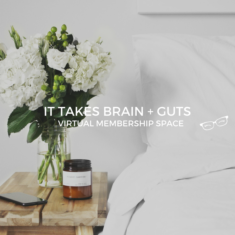 It Takes Brain + Guts