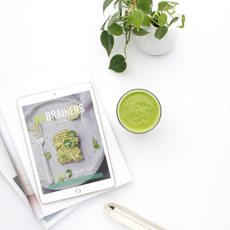 No Brainers Digital Magazine + Community:  a place to score health hacks to live a vibrant + more productive life!
