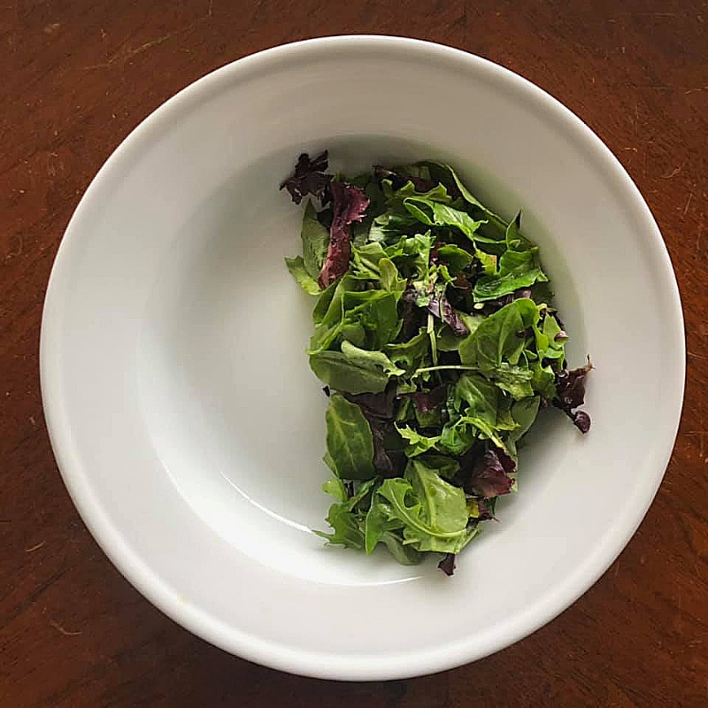 BASE OF NOURISH BOWL:  LEAFY GREENS