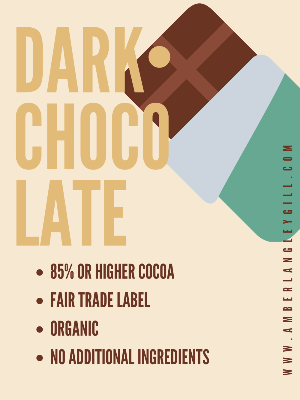 dark chocolate tips