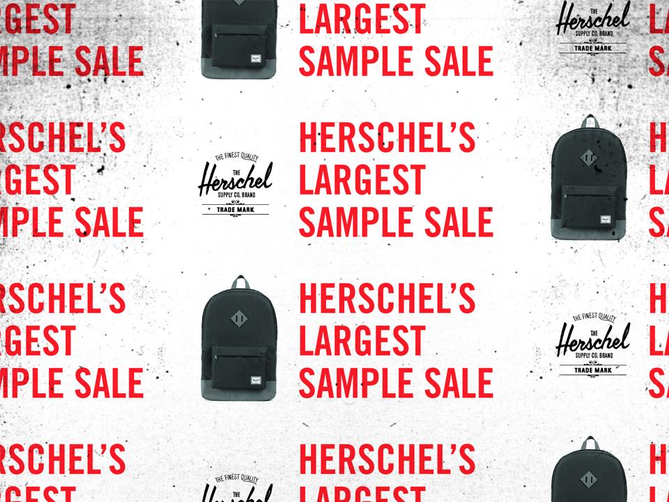 690b674cc759 Herschel Supply Co. Sample Sale