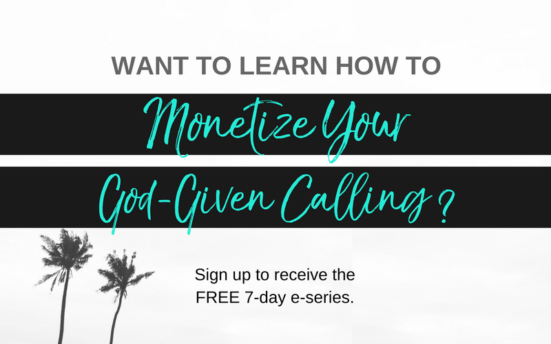Monetize Your God-Given Calling opt-in
