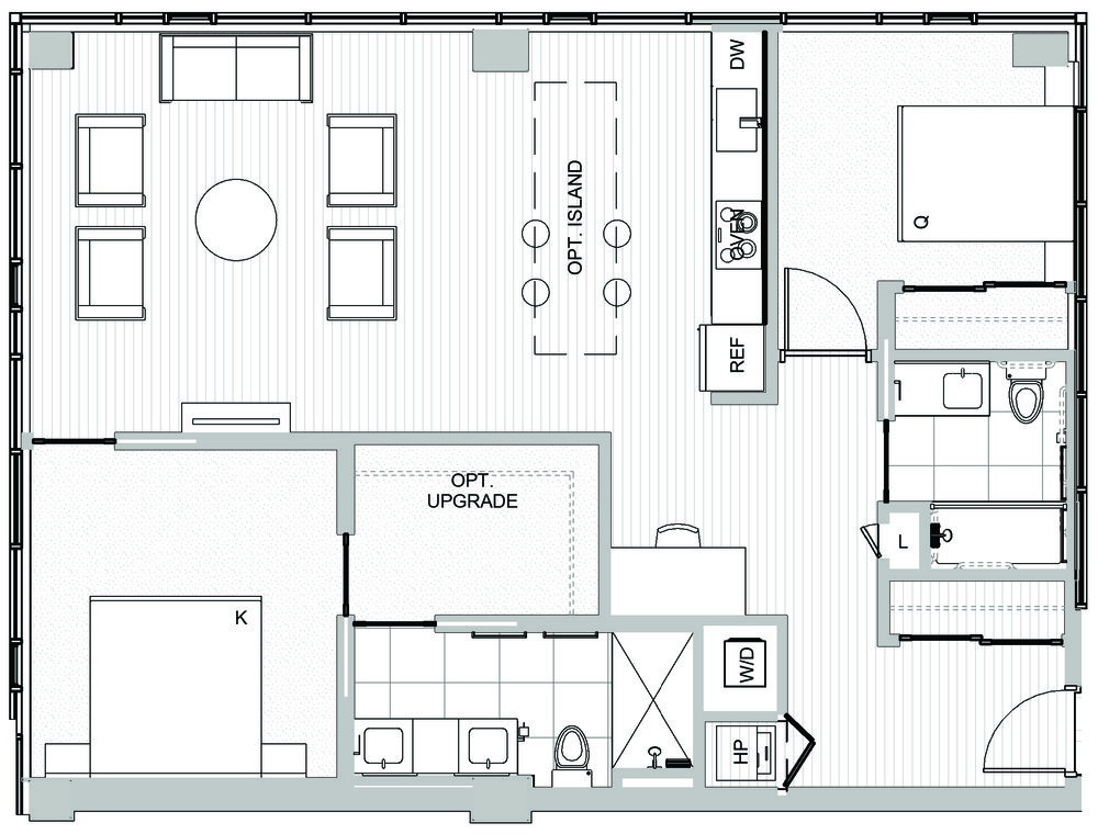 2 bedroom condos in Seattle - Koda Condominiums