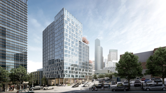 Proposed rendering for KODA Condominiums, located at 450 South Main Street, a 200+ unit project with estimated delivery in mid-2020.
