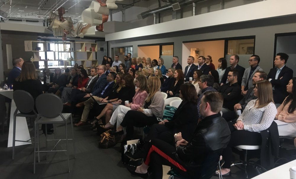 Above: More than 80 brokers attended a presentation by Sotheby's International Realty affiliates from New York; Washington, DC; and Toronto in the Kirkland branch office of RSIR in advance of the AREAA convention.